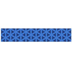 Blue Snake Scales Pattern Large Flano Scarf