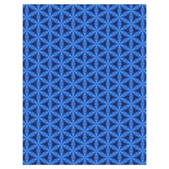 Blue Snake Scales Pattern Drawstring Bag (large)