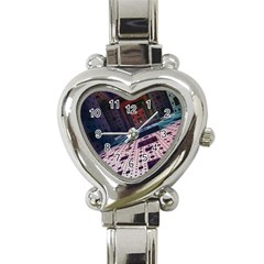Industry Fractals Geometry Graphic Heart Italian Charm Watch