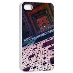 Industry Fractals Geometry Graphic Apple Iphone 4/4s Seamless Case (white)