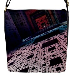 Industry Fractals Geometry Graphic Flap Messenger Bag (s) by Sapixe
