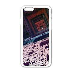 Industry Fractals Geometry Graphic Apple Iphone 6/6s White Enamel Case