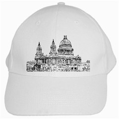Line Art Architecture Church White Cap by Sapixe