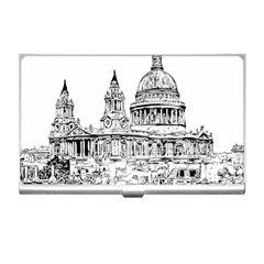 Line Art Architecture Church Business Card Holders