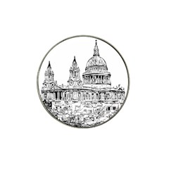 Line Art Architecture Church Hat Clip Ball Marker (10 Pack)