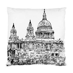 Line Art Architecture Church Standard Cushion Case (one Side)