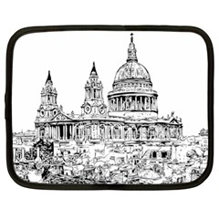 Line Art Architecture Church Netbook Case (xl)