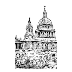 Line Art Architecture Church Shower Curtain 48  X 72  (small)