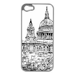 Line Art Architecture Church Apple Iphone 5 Case (silver)