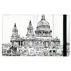 Line Art Architecture Church Apple Ipad 3/4 Flip Case