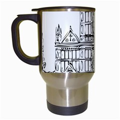Line Art Architecture Church Italy Travel Mugs (white)