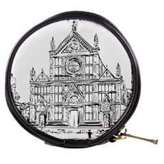 Line Art Architecture Church Italy Mini Makeup Bags