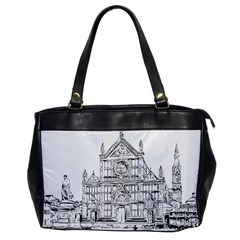 Line Art Architecture Church Italy Office Handbags