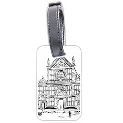 Line Art Architecture Church Italy Luggage Tags (one Side)