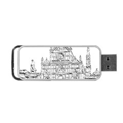 Line Art Architecture Church Italy Portable Usb Flash (two Sides)