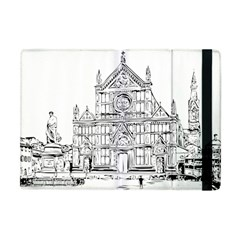 Line Art Architecture Church Italy Apple Ipad Mini Flip Case