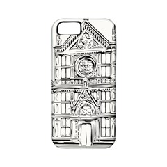 Line Art Architecture Church Italy Apple Iphone 5 Classic Hardshell Case (pc+silicone)