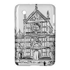 Line Art Architecture Church Italy Samsung Galaxy Tab 2 (7 ) P3100 Hardshell Case