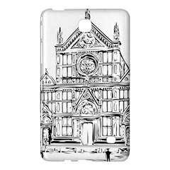 Line Art Architecture Church Italy Samsung Galaxy Tab 4 (8 ) Hardshell Case
