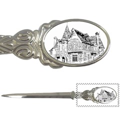 Line Art Architecture Old House Letter Openers