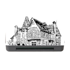 Line Art Architecture Old House Memory Card Reader With Cf