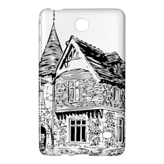 Line Art Architecture Old House Samsung Galaxy Tab 4 (8 ) Hardshell Case