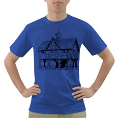 Line Art Architecture Vintage Old Dark T Shirt