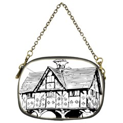 Line Art Architecture Vintage Old Chain Purses (one Side)