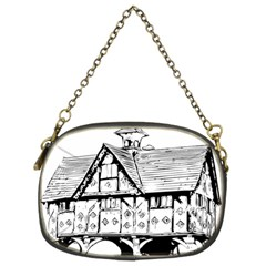 Line Art Architecture Vintage Old Chain Purses (two Sides)