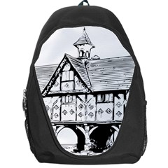 Line Art Architecture Vintage Old Backpack Bag