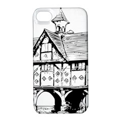 Line Art Architecture Vintage Old Apple Iphone 4/4s Hardshell Case With Stand