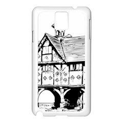 Line Art Architecture Vintage Old Samsung Galaxy Note 3 N9005 Case (white)