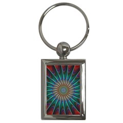 Fractal Peacock Rendering Key Chains (rectangle)