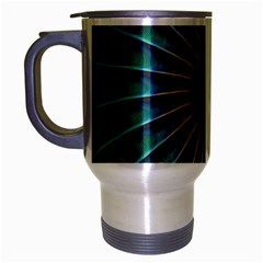Fractal Peacock Rendering Travel Mug (silver Gray)