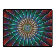 Fractal Peacock Rendering Double Sided Fleece Blanket (small)
