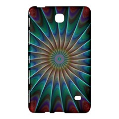 Fractal Peacock Rendering Samsung Galaxy Tab 4 (7 ) Hardshell Case  by Sapixe