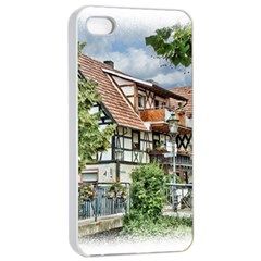 Homes Building Apple Iphone 4/4s Seamless Case (white)