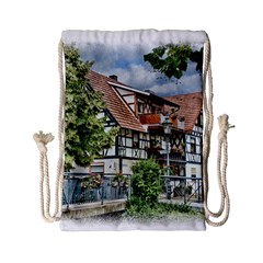Homes Building Drawstring Bag (small)