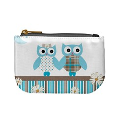 Owl Animal Daisy Flower Stripes Mini Coin Purses