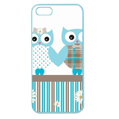 Owl Animal Daisy Flower Stripes Apple Seamless Iphone 5 Case (color)