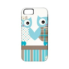 Owl Animal Daisy Flower Stripes Apple Iphone 5 Classic Hardshell Case (pc+silicone)