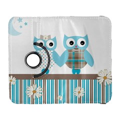Owl Animal Daisy Flower Stripes Galaxy S3 (flip/folio)