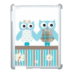 Owl Animal Daisy Flower Stripes Apple Ipad 3/4 Case (white)