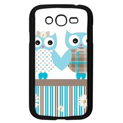 Owl Animal Daisy Flower Stripes Samsung Galaxy Grand Duos I9082 Case (black)