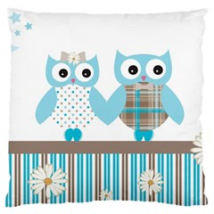 Owl Animal Daisy Flower Stripes Standard Flano Cushion Case (two Sides)