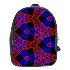 Pattern Abstract Wallpaper Art School Bag (xl)