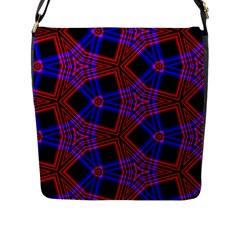 Pattern Abstract Wallpaper Art Flap Messenger Bag (l)