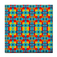 Pop Art Abstract Design Pattern Face Towel by Sapixe