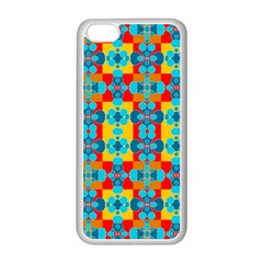 Pop Art Abstract Design Pattern Apple Iphone 5c Seamless Case (white)