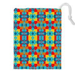 Pop Art Abstract Design Pattern Drawstring Pouches (xxl)